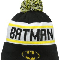 New Era Cap Men's Batman Biggest Fan Redux Pom Knit Beanie