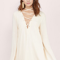 Laced Up High Shift Dress $74