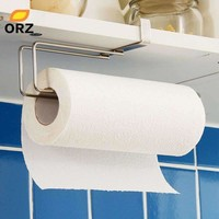 Kitchen Paper Holder Hanger Tissue Roll Towel Rack Bathroom Toilet Sink Door Hanging Organizer