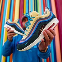 Nike AIR MAX 90 VF SW bullet Tie-dye full palm air cushion Fashion trend comfortable and breathable cushioning sports running shoes