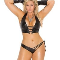 Plus Size Studded Cami and Side Tie Panty