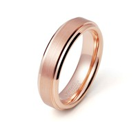 Tungsten Ring Rose Gold Wedding Band Ring Tungsten Carbide 6mm 18K Tungsten Ring Man Wedding Band Male Engagement Ring Women Anniversary