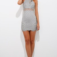 Shape And Pop Dress Grey