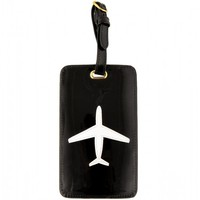 Flight 001 – Where Travel Begins.  Plane Tag Black - Luggage Tags - All Products