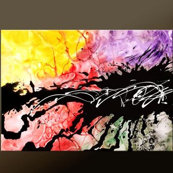 Abstract Canvas Art Contemporary Painting by Destiny Womack - dWo - Untamed