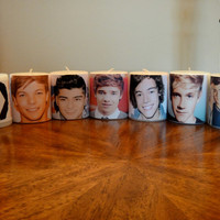 One Direction Custom Collection Pillar Candle Set
