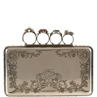 Engraved knuckle-duster clutch | Alexander McQueen | MATCHESFASHION.COM UK