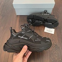 Balenciaga Triple S patchwork Women Men sneakers Shoes