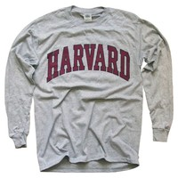 Harvard University T-Shirt, Officially Licensed Long-Sleeve College Athletic Tee