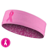Pink Cancer Awareness Headband