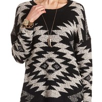 AZTEC PATTERNED PULLOVER SWEATER