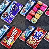 2015 The Newest Laser printing Simulation candy series Chocolate Cookies soft tpu case For iphone5 5s/6 4.7inch/6 plus 5.5inch