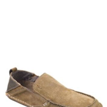 Crevo Jetty Suede Slip-On Shoes in Chestnut for Men CV1224-225