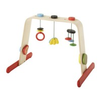 LEKA Baby gym, birch, multicolor - birch/multicolor - IKEA