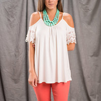 A Day With You Top, Ivory