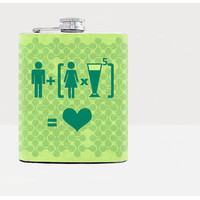 Funny scheme Flask-Hip flask-Green-7oz flask-Gifts-Alcohol-Whiskey-Men-Travel-Drinking-Bar