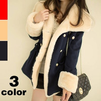 winter warm coats women wool slim double breasted wool coat winter jacket women fur women's coat jackets new = 1929719684