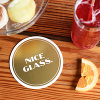 Nice Glass (8 Coaster Set)