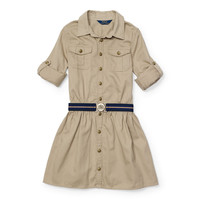 Cotton Chino Shirtdress