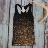 All That Glitter's Is Gold Shaping Tank