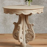 Josette Side Table by Anthropologie in Grey Size: All Furniture
