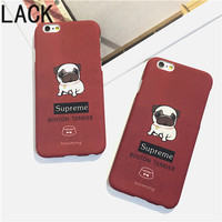 LACK Cute Cartoon Pug Dogs Phone Cases For Iphone 6 Fundas For iPhone 6S 7 7Plus 5 5S ultrathin frosted  Fashion Back Cover HOT