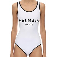 BALMAIN New Hot Sale Women Sexy Print One Piece Bikini Swimsuit Swimwear