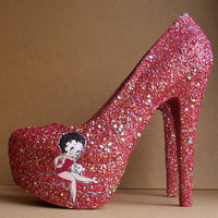 Red Betty Boop High Heels by TattooedMary on Etsy