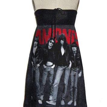 The Ramones Punk Group Photo Tie Dye T-S Tube Dress