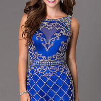 Short Scoop Neck Homecoming Dress