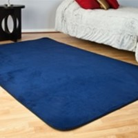 Microfiber Dorm Rug Navy Blue is an affordably cheap dorm rug option with a high quality soft feel that most cheap dorm carpets do not offer perfect dorm floor covering