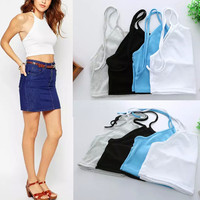 Comfortable Hot Stylish Beach Sexy Bralette Summer Slim Spaghetti Strap Bra Vest [4920538564]