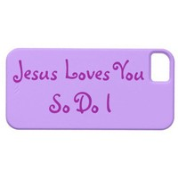 """""""Jesus Loves You""""  Christian iPhone 5 Cases"""