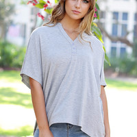 Button-Up Dolman Tee