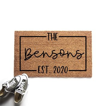 Personalized Custom Last Name Doormat