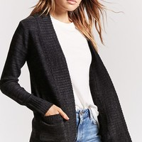 Marled Knit Open-Front Cardigan
