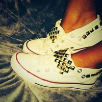 DCCKHD9 Studded Converse Shoes