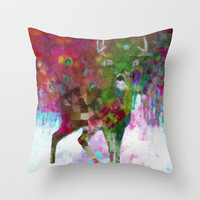 Blinded Throw Pillow by Deniz Erçelebi