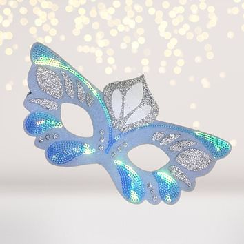 Icy Butterfly, Snow Princess Felt Costume Kids Face Mask