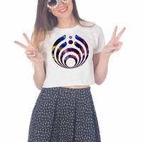 Bassnectar Galaxy Logo For Womens Crop Shirt ***