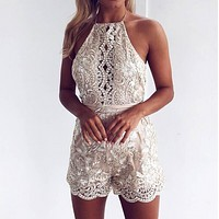 Lace Strap Backless Sexy Romper jumpsuit