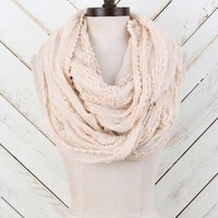 Popcorn Fringe Textured Infinity Scarf | Altar'd State