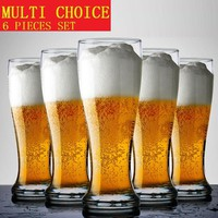 Creative 6 pieces pack High temperature toughened glass wine cup German wheat beer Personalized glass restaurant hotel bar club