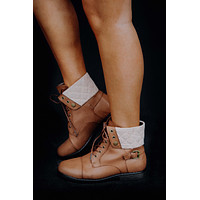 Trick Or Treat Boots: Brown/Tan