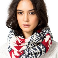 Geo Tribal Knitted Infinity Scarf
