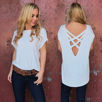 Cross With Honor Jersey Top In Ivory