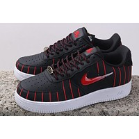 Nike Air Force 1'07 AF1 Chicago black and red jelly hook