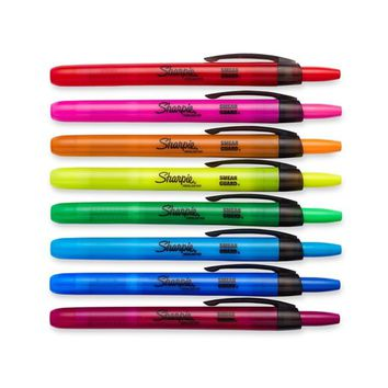 Sharpie® Accent® Retractable Pocket Highlighters, Chisel Tip, Assorted Colors, 8/pk (28101) | Staples