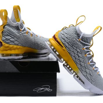 Nike Lebron XV 15 Gray/Yellow