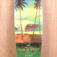 "Gravity 45"" Pintail Tres Palmas Longboard Complete"